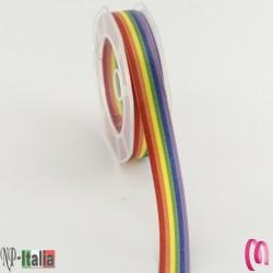 Nastro Doppio Raso Multicolor h16x10mt